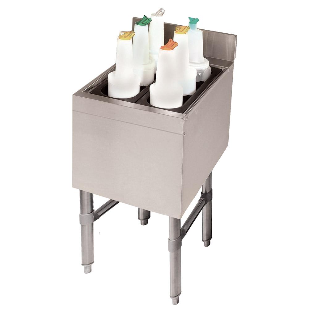 "Advance Tabco SLI-12-12-X 12"" Slimline Cocktail Unit w/ 12"" Chest, 35-lb Ice"