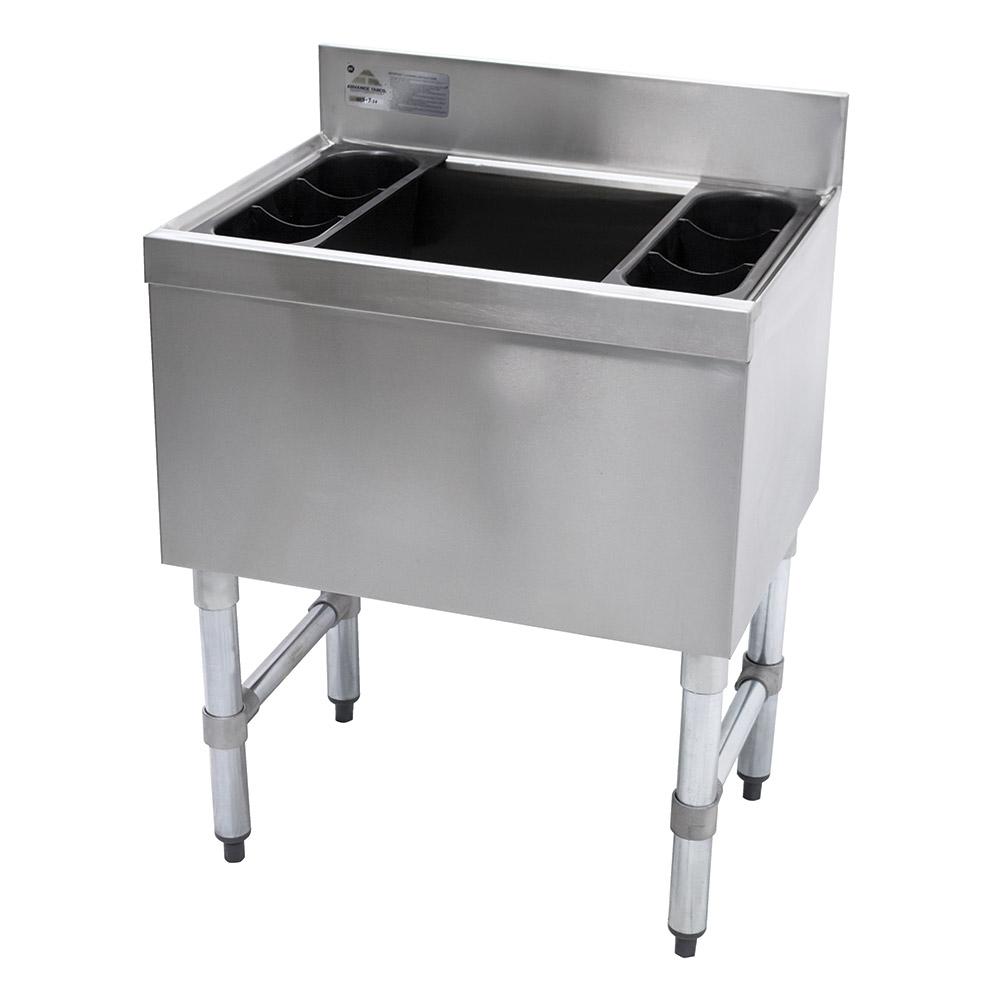 "Advance Tabco SLI-12-42-7 42"" Slimline Cocktail Unit w/ 12"" Chest, Cold Plate, 140-lb Ice"