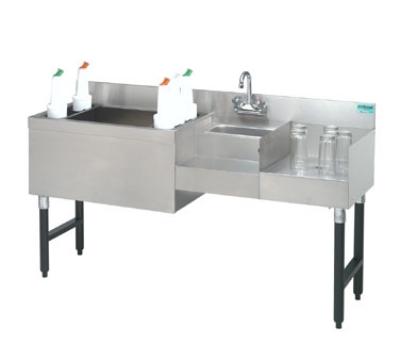 Advance Tabco SLU60L7 5-ft Speed Bar w/ 7-Circuit Post-Mix Cold Plate, 30-in Ice Bin