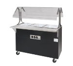 Advance Tabco B4-120-B-S-SB Portable Hot Food Buffet Table w/ Solid Base & 4-Stainless Wells, 120 V