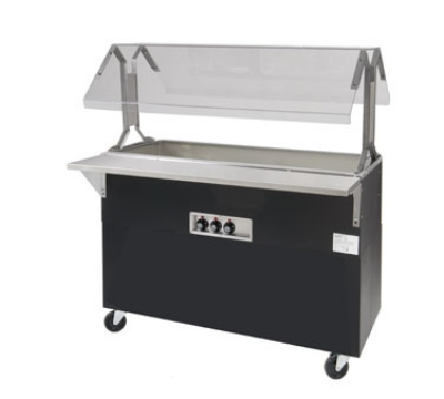 Advance Tabco B3-CPU-B-SB-X Portable Cold Food Buffet Table w/ Solid Base, 3-Pan Size, Ice Cooled
