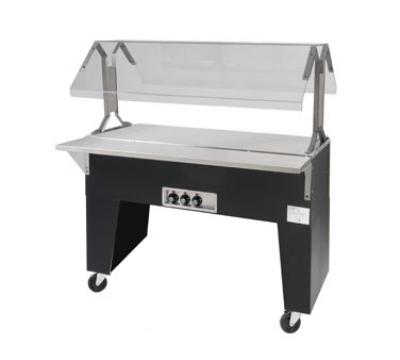Advance Tabco B4-STU-B Portable Buffet Table w/ Solid Top & Open Base, 4-Pan Size