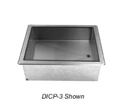 "Advance Tabco DICP-3 50"" Drop-In Cold Well w/ (3) Pan Capacity, Ice Cooled"