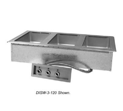 Advance Tabco DISW-3-208/240-M 47-1/8-in Drop-In Hot Food 3-Well Unit, Infinite, Manifold Drain, 208/240 V