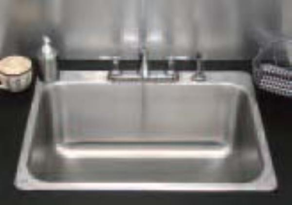 "Advance Tabco SS-1-1919-10RE Residential Drop-In Sink - (1) 16x14x10"" Bowl, 18-ga 304-Stainless"