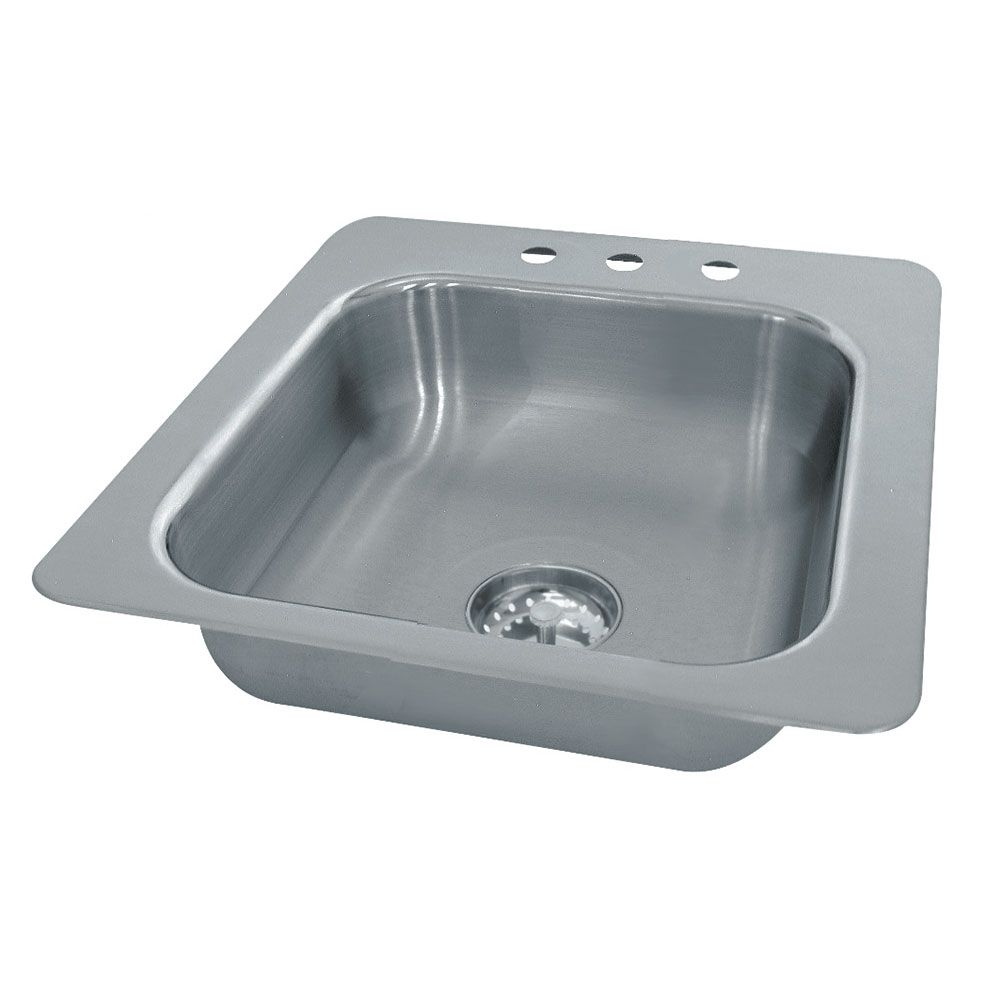 """Advance Tabco SS-1-1919-10 (1) Compartment Drop-in Sink - 16"""" x 14"""", Drain Included"""