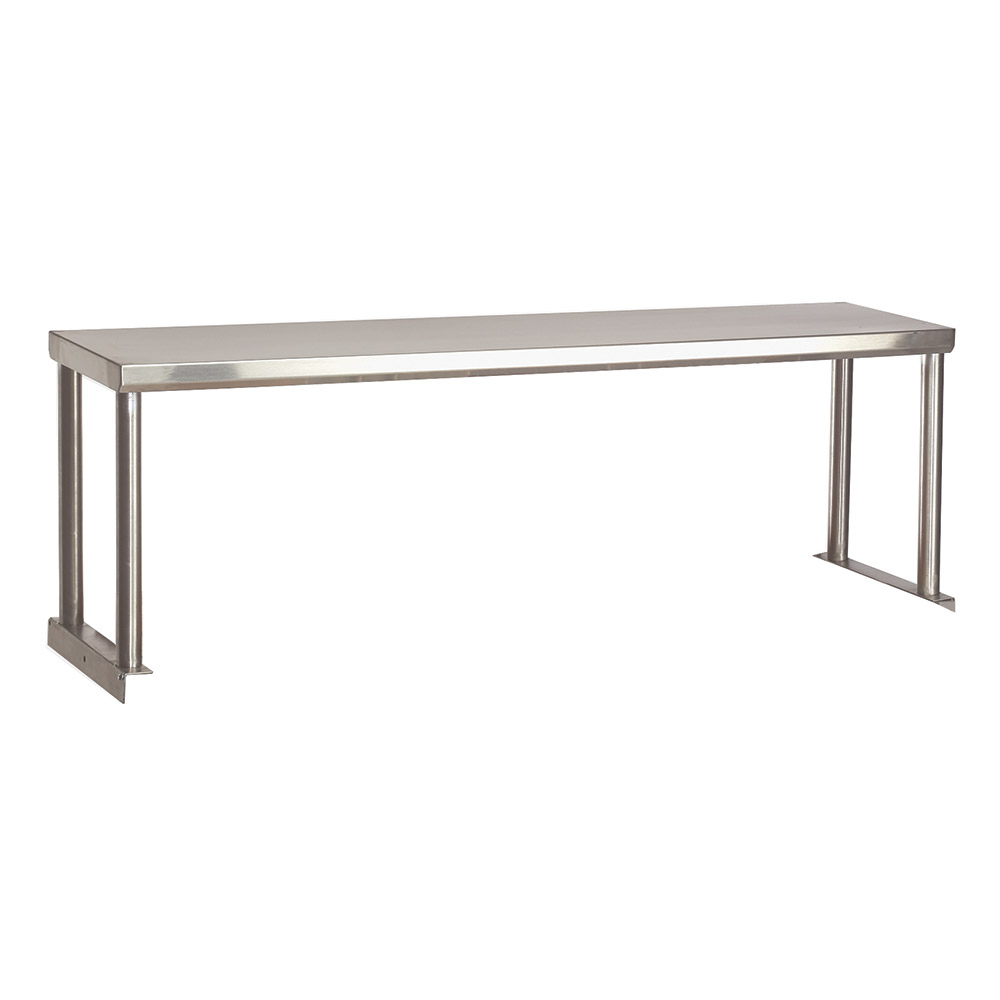 "Advance Tabco STOS-3-18 Single Table Mounted Overshelf, 47-1/8 x 18"", Stainless"