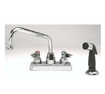 Advance Tabco A-29 Goose Neck Faucet-Deck Mount w/ Melt Down Spray Nozzle, Loose