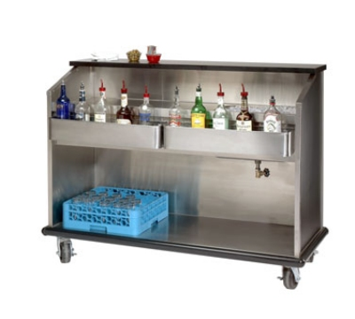 Advance Tabco AMD-5B 60-in Portable Bar w/ Enclosed Storage, Workboard & Ice Bin