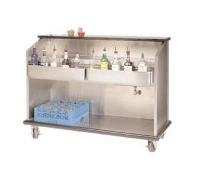 Advance Tabco AMS-5B-7 60-in Portable Bar w/ Open Storage, Workboard & Ice Bin