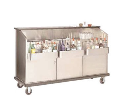 Advance Tabco AMS-6B 72-in Portable Bar w/ Open Storage, Workboard & Ice Bin