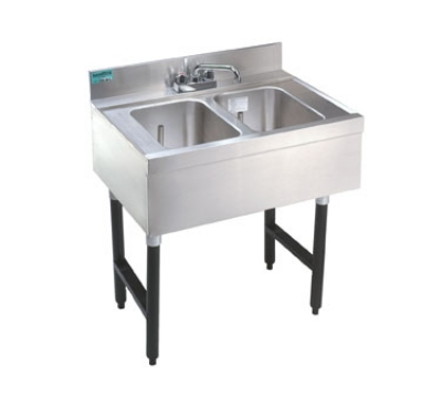 "Advance Tabco SLB-42R 48"" 2-Compartment Sink w/ 10""L x 14""W Bowl, 10"" Deep"