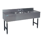 "Advance Tabco CRB-83C 96"" 3-Compartment Sink w/ 10""L x 14""W Bowl, 10"" Deep"