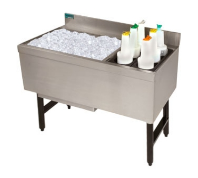 """Advance Tabco CRCI-36L 35"""" Ice Chest w/ Right Insulated Bottle Storage Rack"""