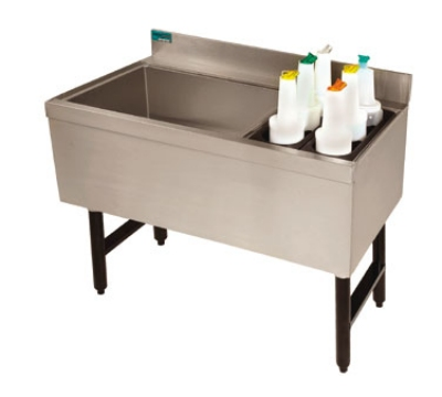 "Advance Tabco CRCI-48LR-7 47"" Ice Chest w/ Coldplate, Right & Left Insulated Bottle Storage Rack"
