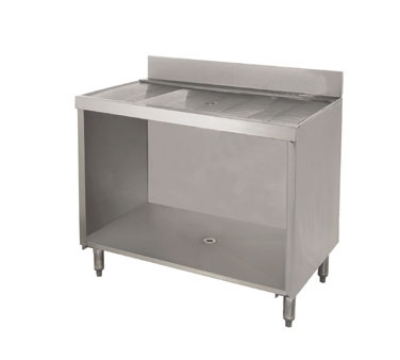 "Advance Tabco CRD-4B 48"" Bar Type Modular Drainboard w/ Open Cabinet Base, Stainless"