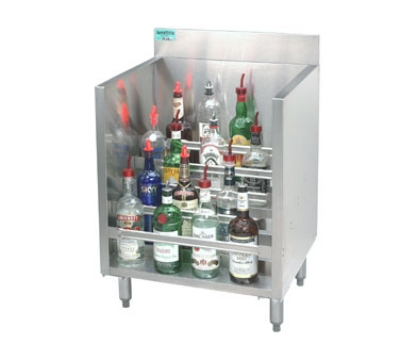 Advance Tabco CRLR-12 12-in Liquor Display Rack w/ 5-Bottles Per Tiered Steps