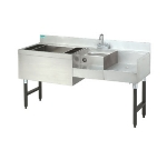 Advance Tabco CRU-60L 60-in Challenger Uni-Serv Speed Bar w/ Left Ice Bin & Dump Sink