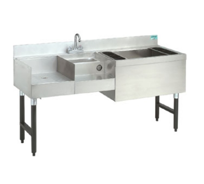"Advance Tabco CRU-60R-7 60"" Challenger Uni-Serv Speed Bar w/ Right Ice Bin, Post Mix Cold Plate"