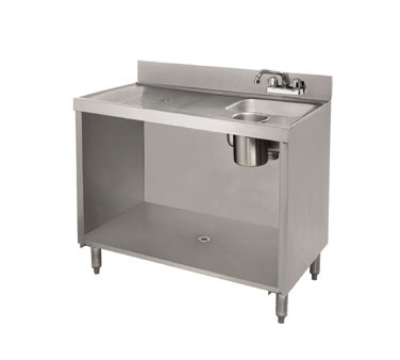 Advance Tabco CRWC-3 35-in Open Wet Dry Waste Cabinet, Stainless