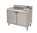 Advance Tabco CRWC-3-DR 35-in Wet Dry Waste Cabinet w/ Doors, Stainless