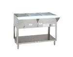 Advance Tabco HF-2G-NAT 34-in Hot Food Table w/ 2-Wells, Open Base w/ Undershelf, NG