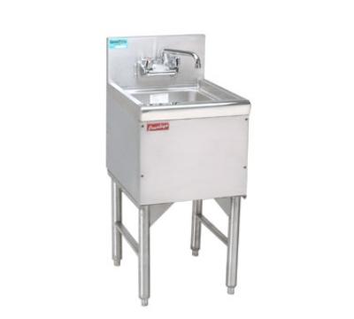 """Advance Tabco PRHS-24-12 Commercial Hand Sink w/ 14""""L x 10""""W x 10""""D Bowl, Standard Faucet"""