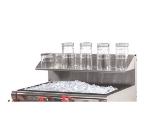 Advance Tabco PRA-GS-18 18-in Shelf w/ Rear Splash Hang-On, Glass