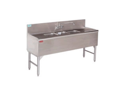 "Advance Tabco PRB-24-43R 48"" 3-Compartment Sink w/ 10""L x 14""W Bowl, 10"" Deep"