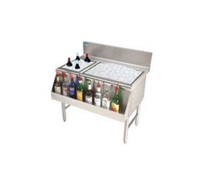 "Advance Tabco PRC-19-48L 48"" Ice Chest w/ Right Bottle Storage Rack, No Coldplate, 108/32-lb Ice"