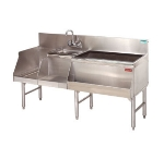 Advance Tabco PRU-24-60R Uni-Serv Speed Bar w/ 11-in Right Ice Bin, Deck Mount Faucet, No Coldplate