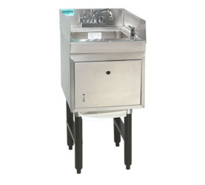 Advance Tabco SC-15-TS-S 15-in Modular Workboard Hand Sink Unit w/ Soap & Towel Dispenser