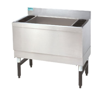 Advance Tabco SLI-16-24-7 24-in Slimline Cocktail Unit w/ 16-in Chest, Post Mix Cold Plate, 150-lb Ice