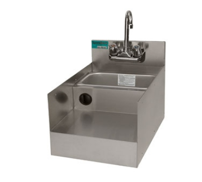 "Advance Tabco SL-RS-12-X 12"" Underbar Add-On Unit, Blender Recess Stainless Sink w/ Gooseneck Faucet"