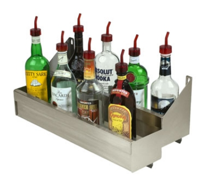 Advance Tabco SRKD-18 18-in Double Tier Bottle Rack w/ Keyhole, Stainless
