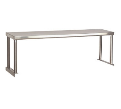 "Advance Tabco STOS-5-18 Single Table Mounted Overshelf, 77-9/12 x 18"", Stainless"