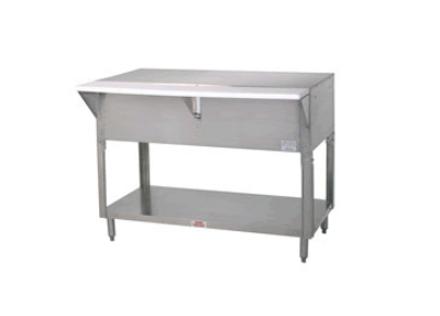 "Advance Tabco STU-3 Solid Top Table, Open Base w/ Undershelf, 47-1/8"", Stainless"