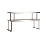 "Advance Tabco TOS-4-18 Double Table Mounted Overshelf, 62-3/8 x 18"", Stainless"