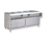 Advance Tabco WB-4G-LP-BS Water Bath Hot Food Table, 62-3/8-in, Cabinet Base w/ Open Undershelf, LP