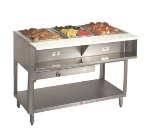 "Advance Tabco WB-3G-LP-X Water Bath Hot Food Table, 47-1/8"", Open Base w/ Undershelf, LP"