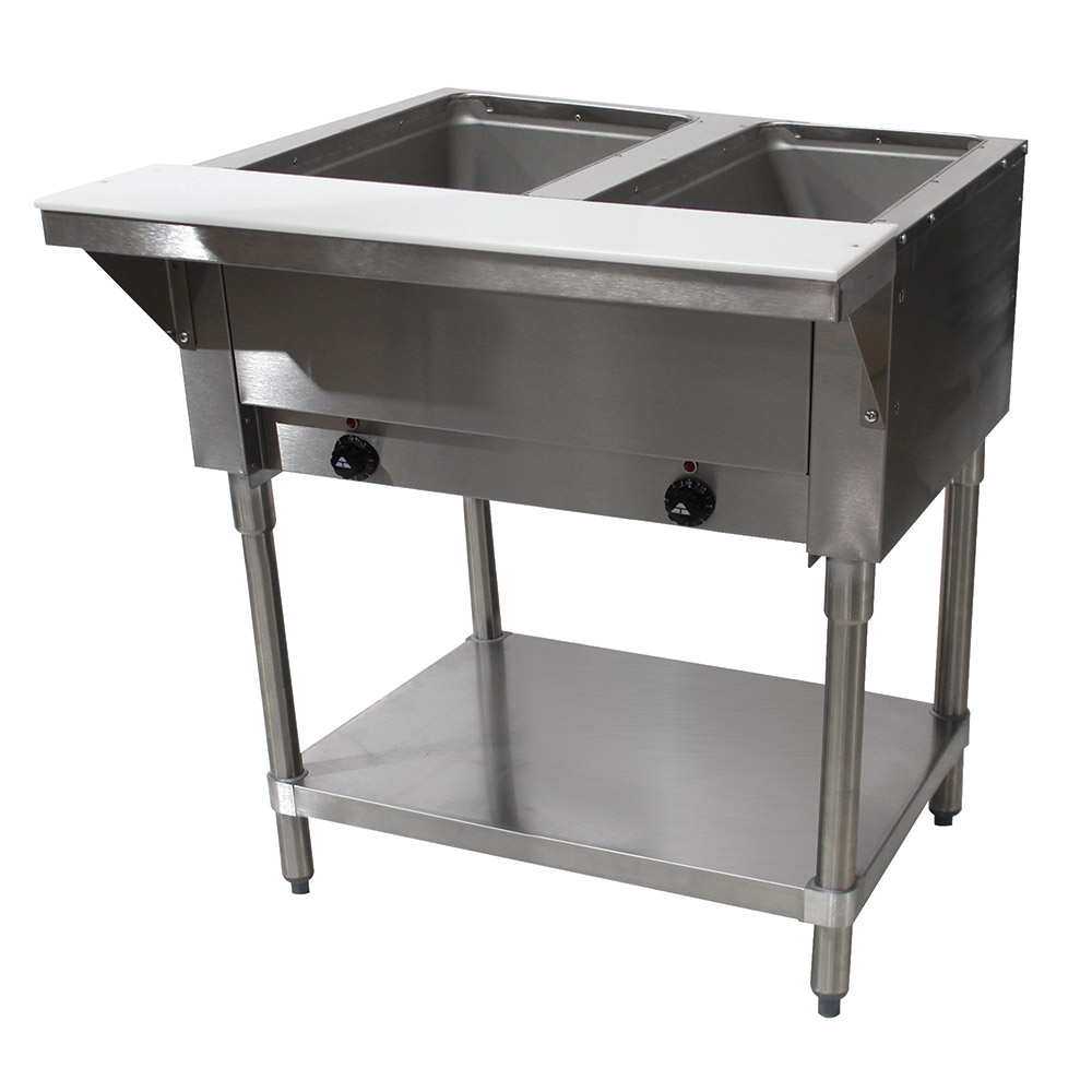 "Advance Tabco SW-2E-120 Hot Food Table w/ 2-Wells, Infinite Control, 31-13/16"", Stainless"