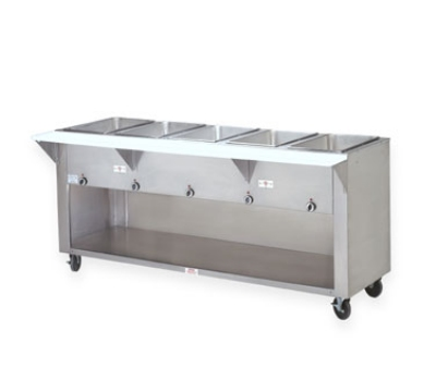 Advance Tabco SW-4E-208/240BST Hot Food Table w/ 4-Wells, Thermostatic, Enclosed Base, 208/240 V