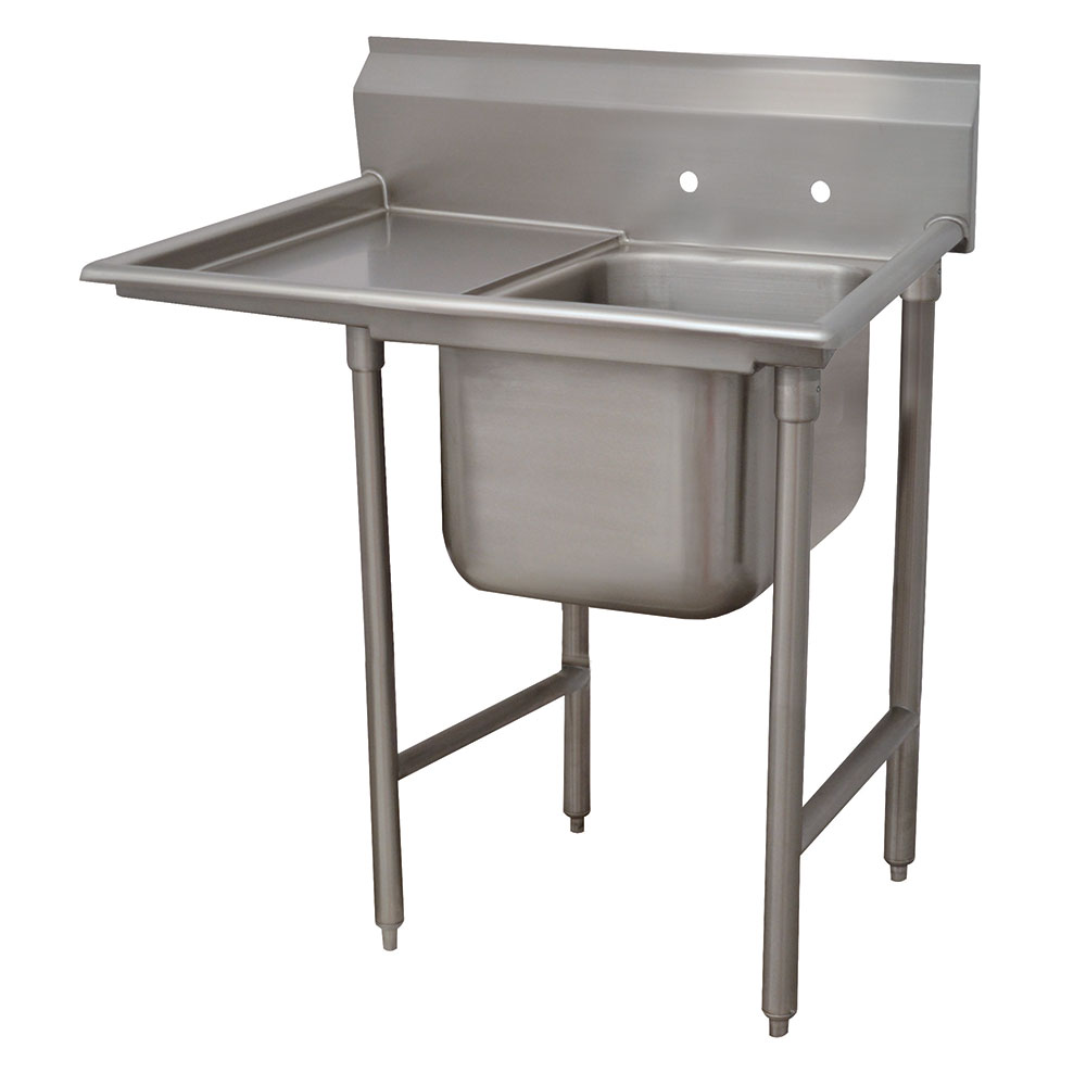 "Advance Tabco T9-1-24-18L-X 40"" 1-Compartment Sink w/ 16""L x 20""W Bowl, 12"" Deep"