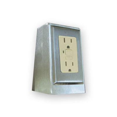 Advance Tabco TA-62D Duplex Electric Outlet, Doghouse Style, On Top of Work Surface, Each