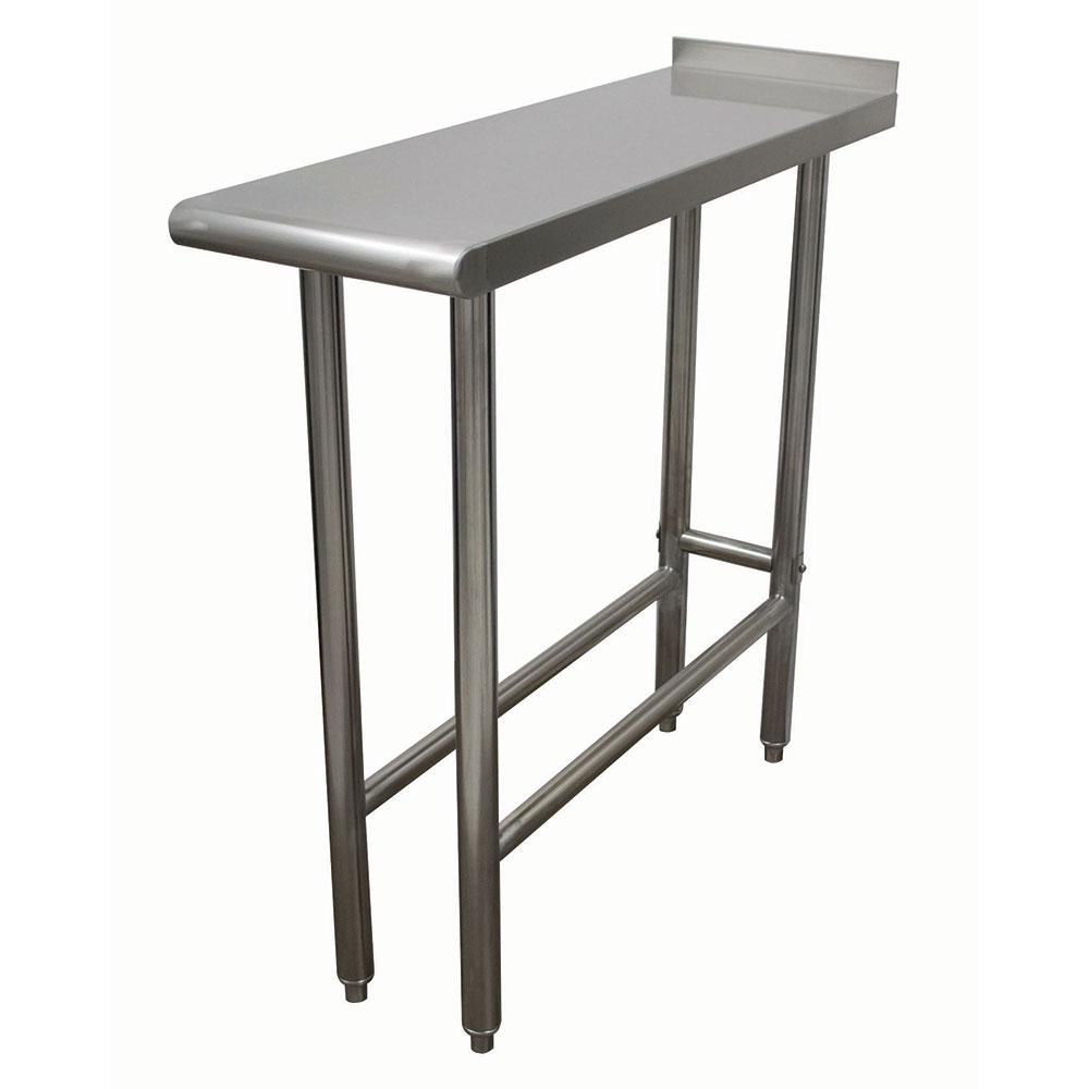 Advance Tabco TFMS-120 Equipment Filler Table - Open Base, Rear Turn Up, 12x30