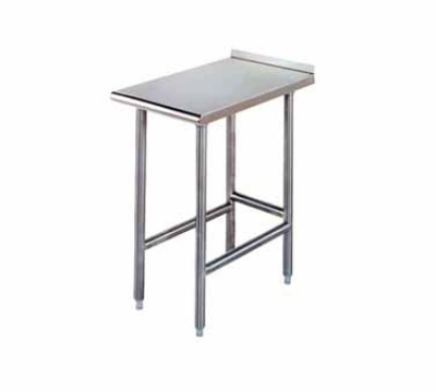 Advance Tabco TFMS-3012 30 x 144 in L All SS Table 1-1/2 in Turn Up Side & Rear Crossrails 16 Guage Restaurant Supply