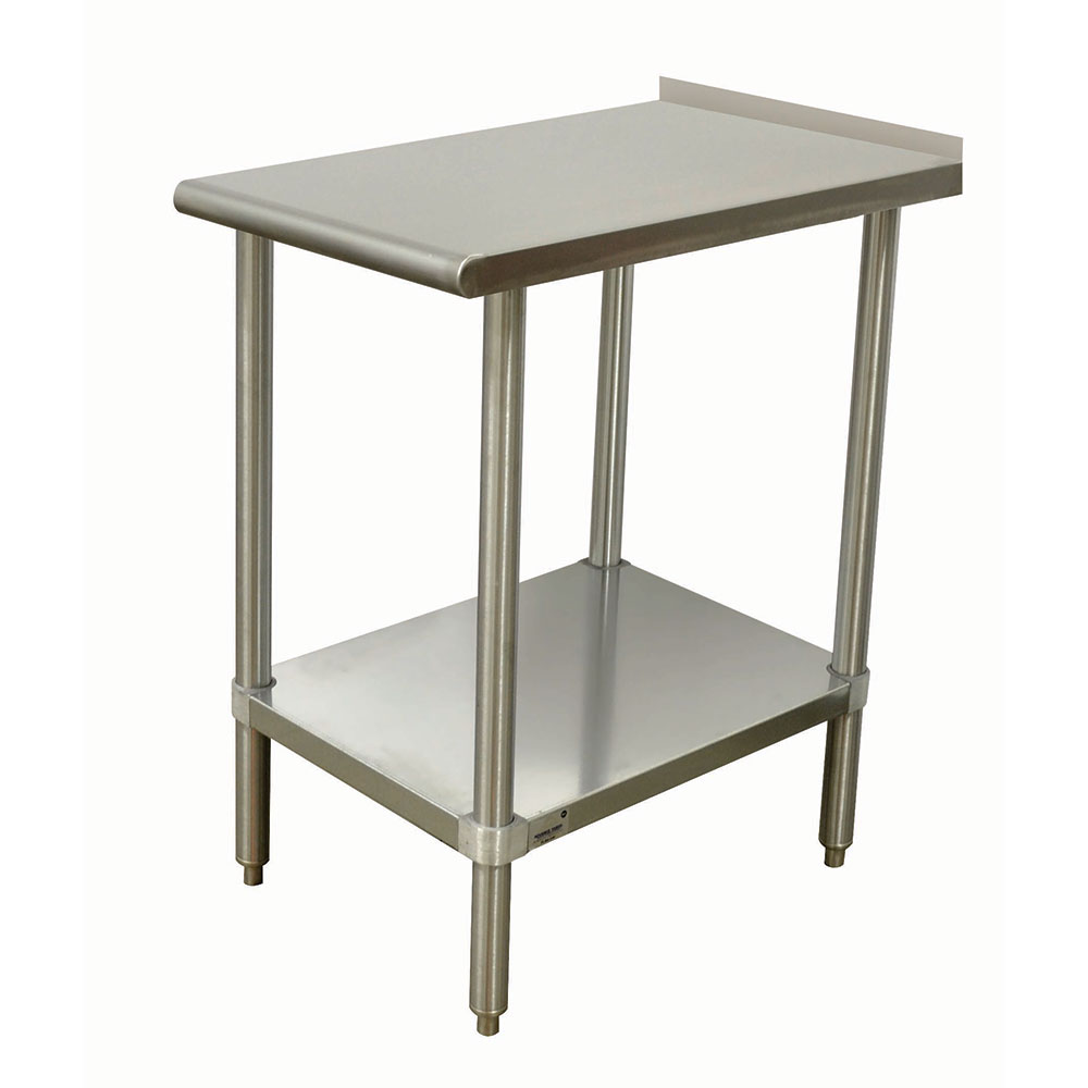 "Advance Tabco TFMSU-182 Equipment Filler Table - 18x24"", Undershelf, 1.5"" Turn Up In Rear, Stainless"