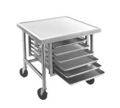 Advance Tabco TMG-363 36 x 36 in L Table w/o Splash Galvanized Legs 16 Gauge 304 SS Top Restaurant Supply