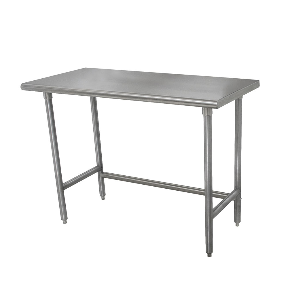 """Advance Tabco TMSLAG-308 96"""" 16-ga Work Table w/ Open Base & 304-Series Stainless Flat Top"""