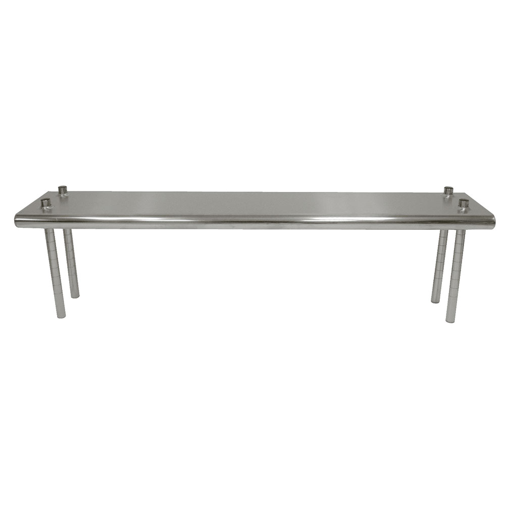 "Advance Tabco TS-12-132 Table Mount Shelf - Single Deck, 132x12"", 18-ga 430-Stainless"